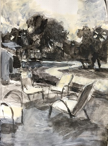 Landscape with chairs