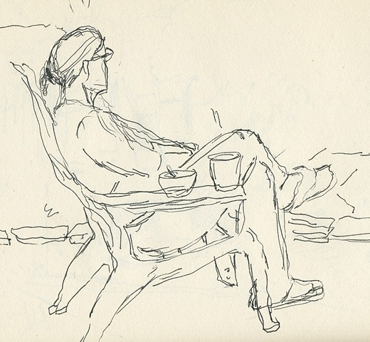 Figure in chair