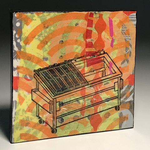 "dumpster fire art artwork ""dumpster fire"" acrylic on canvas"
