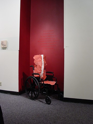 RED WHEEL CHAIR
