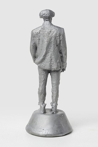 Patrizio (Aluminum with signature 1, Back View); 029