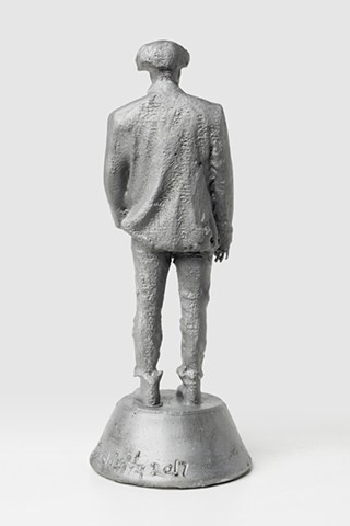 Patrizio (First Orphan Dream Award/Aluminum with signature 2, Back View)