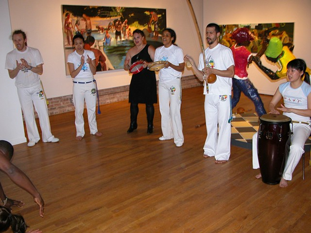 Capoeira Performance at 'Reenactments' Solo Exhibition