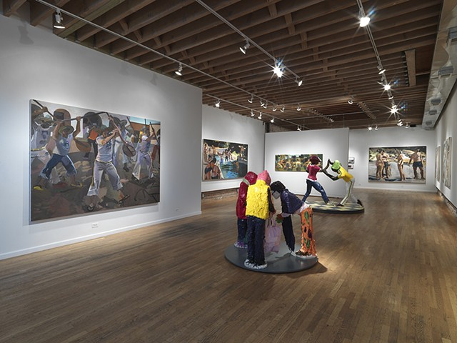 Solo Exhibition Reenactments at Linda Warren Gallery Chicago