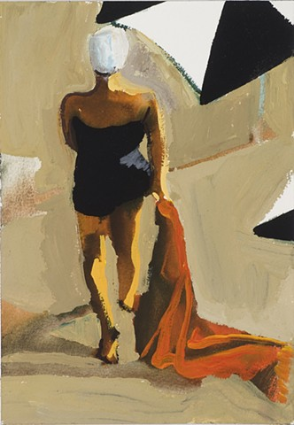 Woman with Red Towel