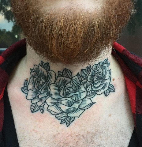 Woodcut Rose Tattoo By Cassandra Knox