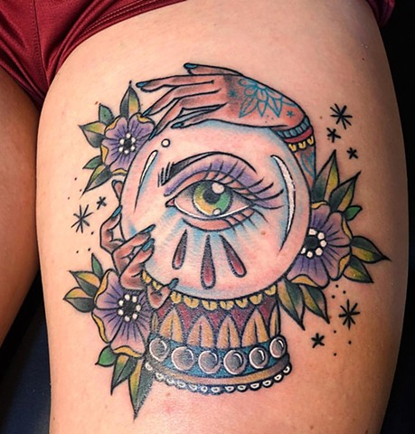 Crystal Ball Tattoo By Cassandra Knox