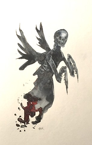 death, mantis, angel of death, grim reaper, dark art, monster art