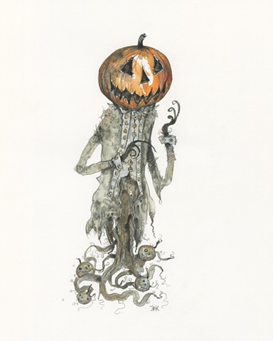 Halloween, pumpkin, cryptocurium, folklore, October, weird art, horror art