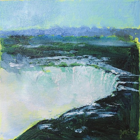 oil painting of Niagara Falls, Ontario, Canada