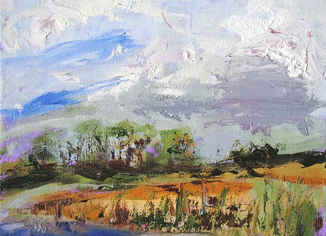 oil painting of the Delaware landscape