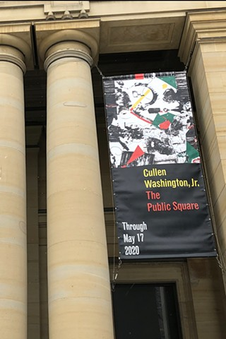 Solo Exhibition Museum of Art University of Michigan Front facade banner