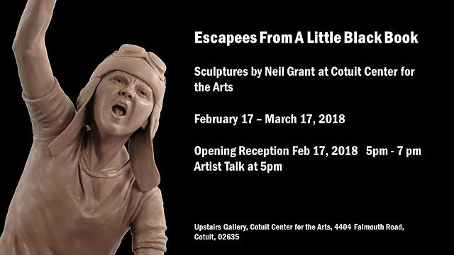 My exhibit 'Escapees From A Little Black Book' opens on February 17th!  I'd love it if you could come.