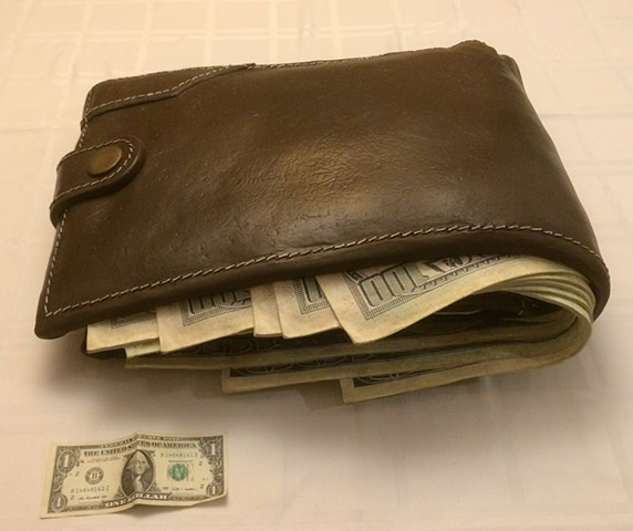 A really big, hyper-realistic wallet.  Enquire for shipping cost