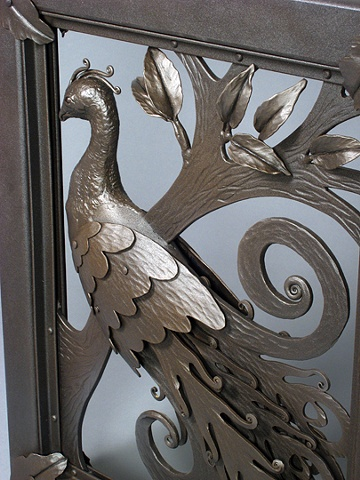 Peacock Gates (Detail)