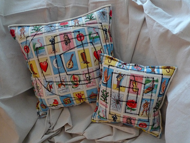 (Time Travel Pillows) Tarot/Black, Large and Small