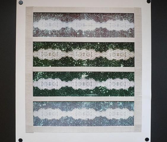 ocean wormholes + universe static: Giclee Print