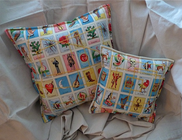 (Time Travel Pillows) Tarot/Yellow, Large and Small