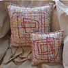 (Time Travel Pillows) White/Subway, Large and Small