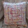 (Time Travel Pillows) White/Subway, Large