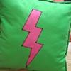 Green Pillow/ Pink Lightning