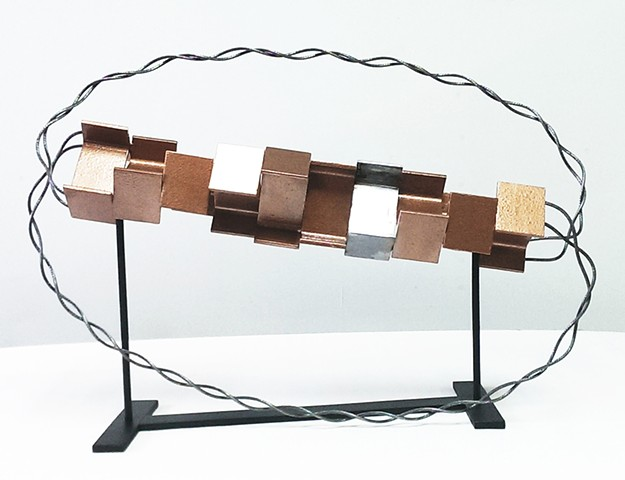 Abstract sculpture in metal by Peter N. Gray