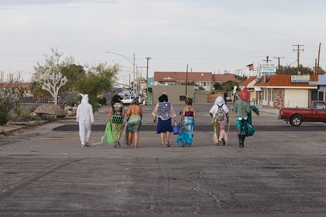 Mermaid Parade in Joshua Tree documentation by Mikayla Whitmore Performance 2017