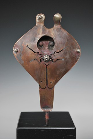 One of a Kind, Sculpture, Fine Art, Copper, Silver, Woman, Figure,Fabrication,