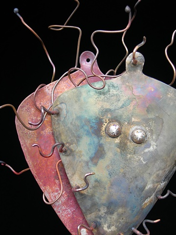Original, Entwine,Brass, Copper, Marble,One of a Kind, Fine Art, Gallery Shows,Carmen M. Perez,