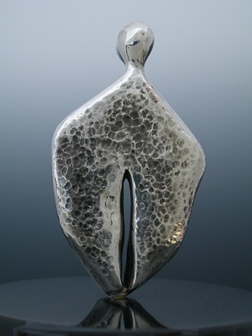 Original, Dulcinea, cast solid silver, Silver,darken, Marble,One of a Kind, Fine Art, Gallery Shows,Carmen M. Perez,