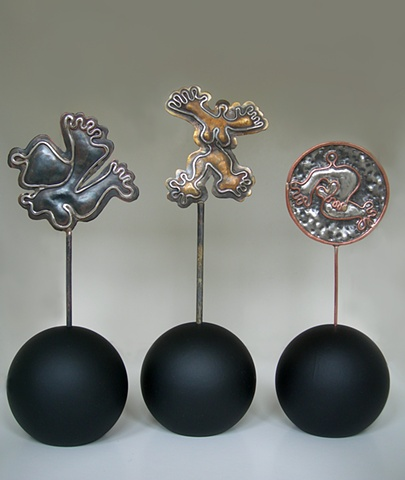 Original,Trust Me, Joy, Dancing Under The Stars,Brass,Silver, Copper, Marble,Wood,One of a Kind, Fine Art, Gallery Shows,Carmen M. Perez,