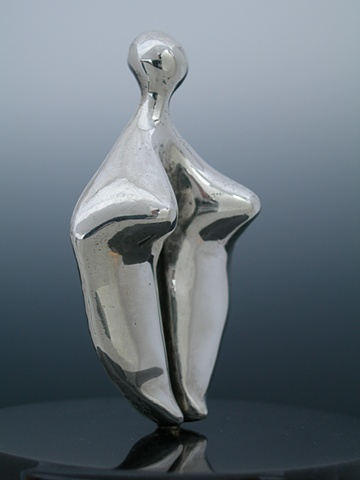 Original, Dulcinea, Solid Cast Silver, Marble,One of a Kind, Fine Art, Gallery Shows,Carmen M. Perez,