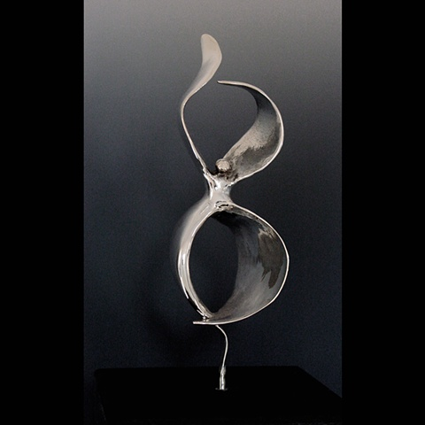 Original, Emergiendo, Solid Cast Silver, Marble,One of a Kind, Fine Art, Gallery Shows,Carmen M. Perez,