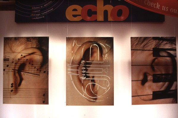 Three Ears For The Chicago Symphony Orchestra. 2008. 3 - 3.5ft x 5.5ft Duraclear transparencies.