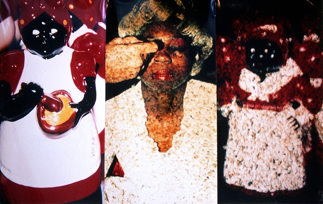 Breaking Down Aunt Jemima Times 3. 1991. 5ft x 6ft.