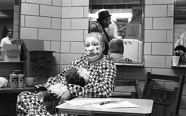 Backstage Clowns At The Detroit Shriner Circus. 1978