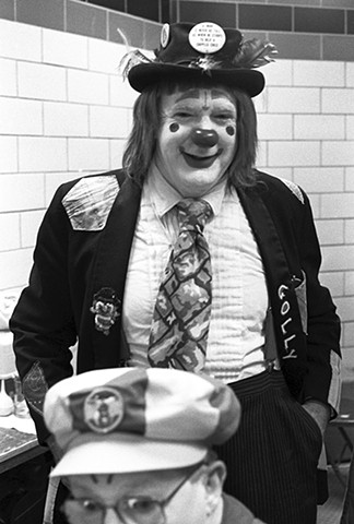 Golly The Clown. Detroit Shriner Circus.