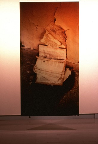 Book. Naos Cataclysmos. 1991. Visual Studies Workshop. 4ft x 9ft cibachrome transparency.