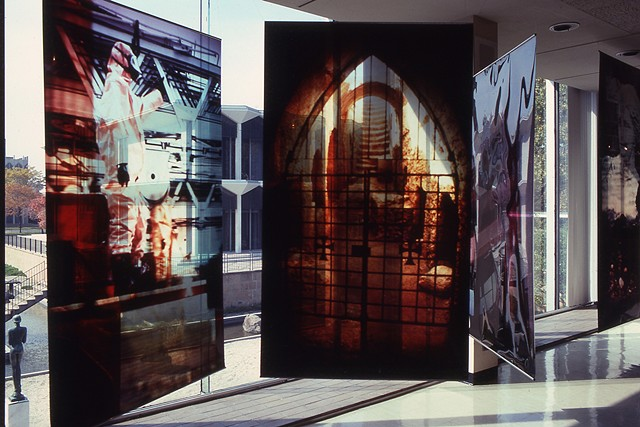 Naos Cataclysmos. 8 - 3.5ft-4ft x 7-9ft. Cibachrome transparencies. 1992. Wayne State University