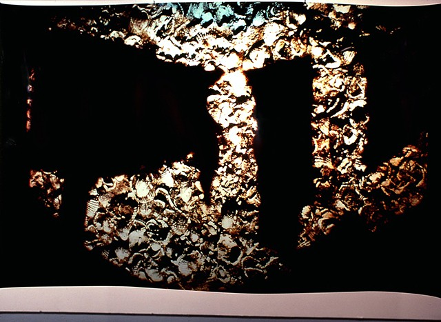 Rock House. Naos Cataclysmos. 1991. Visual Studies Workshop. 3.5ft x 7ft cibachrome transparency.