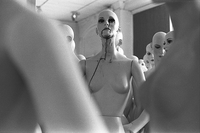 """First Floor Meltdown In August"". 1978. Mannequin factory for Hudson's Department Store. Detroit."