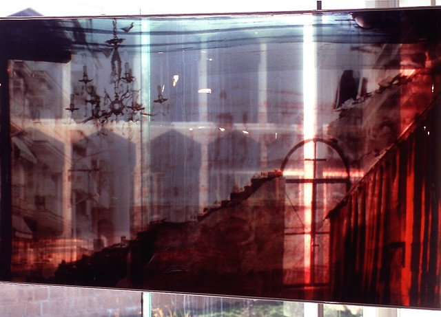 Detail. Church in Thessaloniki, Greece. 3.5ft x 7.5ft. Cibachrome transparency. 1992.