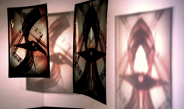 Flags. 1993. West Virginia. 3 - 3.5ft x 5.5ft Cibachrome transparencies.