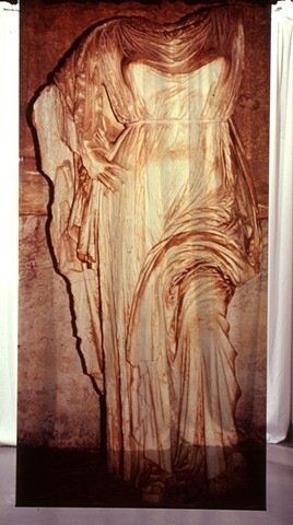Athena. Naos Cataclysmos. 4ft x 9ft. Cibachrome transparency. 1991.