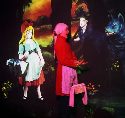 Shocking Red Riding Hood. 2008. From: Children And Spirits. 30in. x 30in. Digital archive print.
