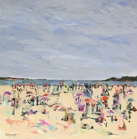 Beach Crowd by Molly Wright    mollywrightart.com