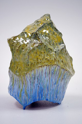 john zimmerman ceramic sculpture landscape mountains clay glaze contemporary