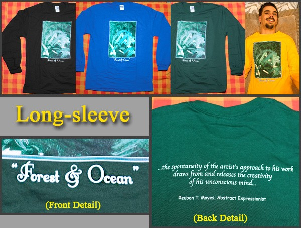 "Long-sleeve art T-shirt ""Forest & Ocean"""
