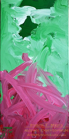 Broccoli Too Hot original acrylic canvas painting