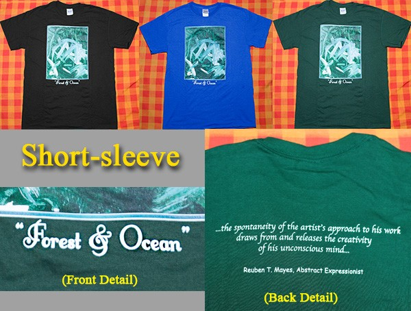 "Short-sleeve art T-shirt ""Forest & Ocean"""